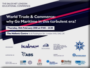 "World Trade & Commerce Conference: ""Why Go Maritime in this Turbulent Era?"" Supported by the Hellenic Engineers Society of Great Britain."